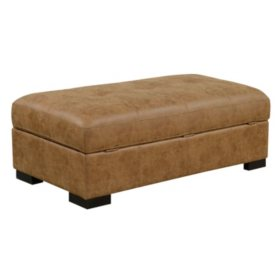 Abbott Ottoman, Saddle Brown