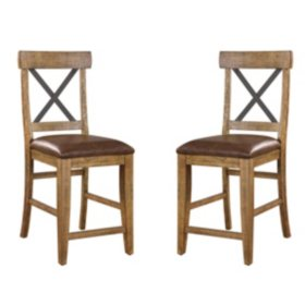 "Chandler 24"" Bar Stool, Rustic Brown"