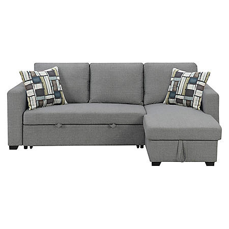 Langley Reversible Sectional Sofa with Storage, Fossil Gray - Sam\'s Club