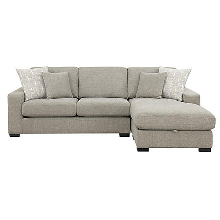 Brahms Reversible Sectional Sofa with Storage, Gray