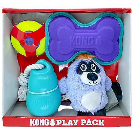 KONG Play Pack Dog Toys - Variety 4 pk.