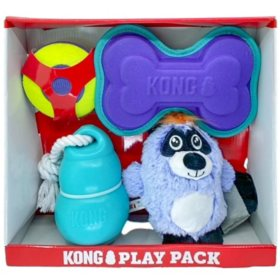 KONG Play Pack Dog Toys - Variety 4 pk.