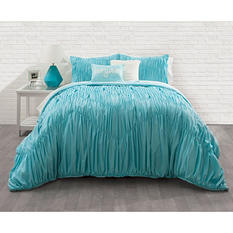 Ruched Chevron Comforter Set (Assorted Sizes)