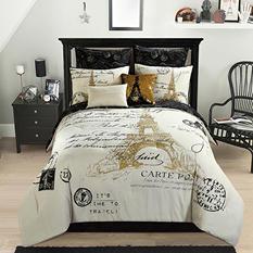 Idea Nuova Paris Gold 8-Piece Comforter Set (Assorted Sizes)