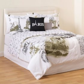 Idea Nuova Paris Gold 5-Piece Bedding Set, Full/Queen
