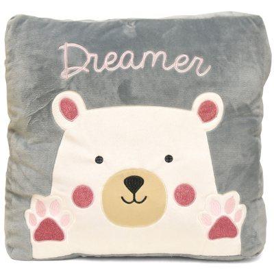 American Kids Sherpa Floor Pillow in Purple Cat