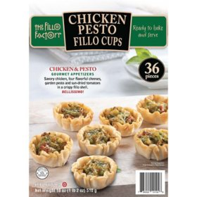 The Fillo Factory Chicken Pesto Fillo Cups, Frozen (36 ct.)
