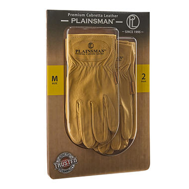 Plainsman Leather Gloves - 2 Pair