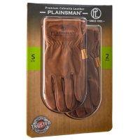 Plainsman Premium Cabretta Brown Leather Gloves - 2 Pairs