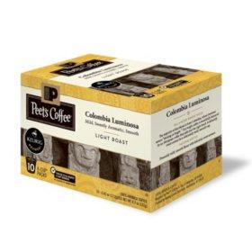 Peet's Coffee Colombia Luminosa, Light Roast (60 K-Cups)