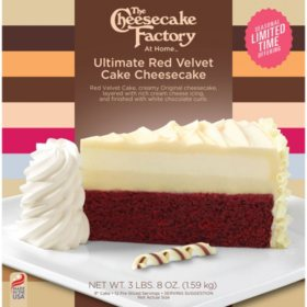 "The Cheesecake Factory 9"" Ultimate Red Velvet Cake Cheesecake"