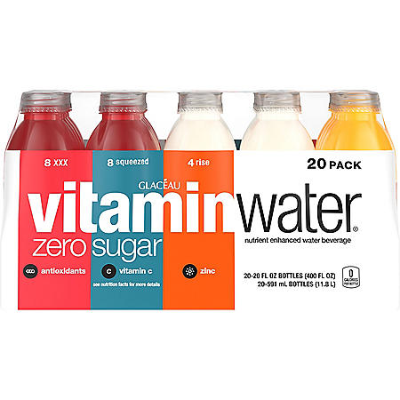 Glaceau Vitaminwater Zero Variety Pack (20 oz., 20 pk.)