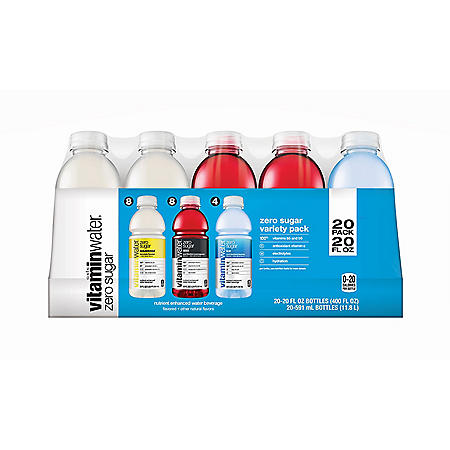 Glaceau Vitaminwater Zero Variety Pack (20 fl. oz., 20 pk.)