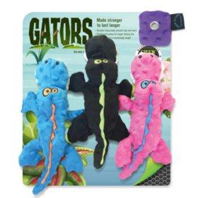 Gators Squeaker Dog Toys, Small - 3 pk.