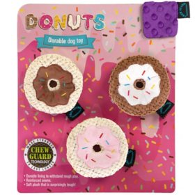 Donuts Durable Dog Toy, Chew Guard Technology (Choose Large 2-pk. or Small 3-pk.)