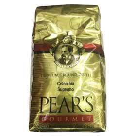 PEAR'S GOURMET Premium Ground Coffee, Colombia Supremo (32 oz.)