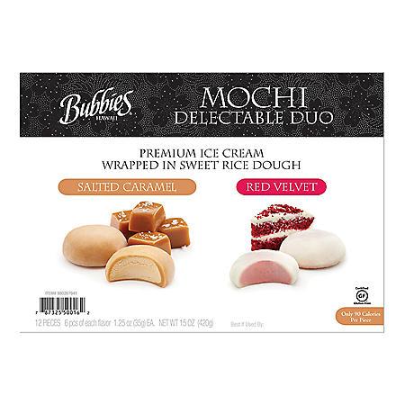 Bubbies Mochi Ice Cream Variety Pack, Frozen (12 ct.)