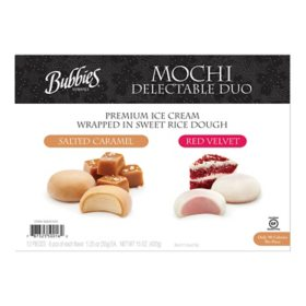 Bubbies Mochi Ice Cream Variety Pack, Frozen (12 ct.)