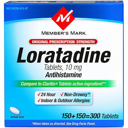 Member's Mark® Loratadine 10MG Tablets - 300ct
