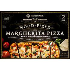 """Member's Mark 10"""" x 15"""" Wood Fired Margherita Pizza (2 pk.)"""