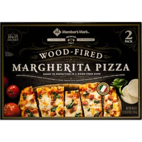 "Member's Mark 10 ""x 15"" Wood Fired Margherita Pizza (2 pk.)"