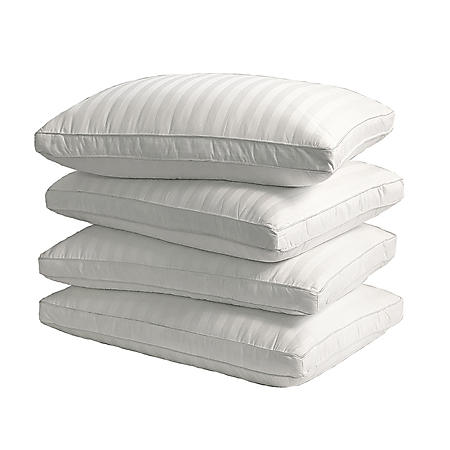 350-Thread-Count Cotton Damask Stripe Pillows, Jumbo (4-pack)