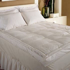 "233-Thread-Count Down Pillowtop 5"" Gusset Featherbed"