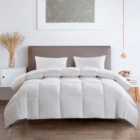 Serta All Season White Goose Feather and Down Fiber Comforter (Various Sizes)