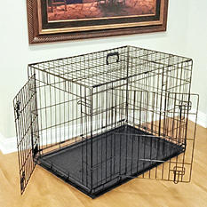 Double Door Folding Dog Crate - Various Sizes Available