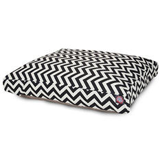 Majestic Pet Rectangle Pet Bed, Black Chevron (Choose Your Color & Size)