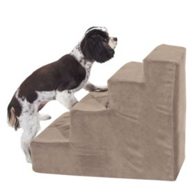 Majestic Pet 4-Step Suede Portable Pet Stairs (Choose Your Color)