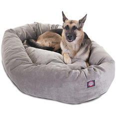 "Majestic Pet Velvet Bagel Pet Bed 52"" (Choose Your Color)"