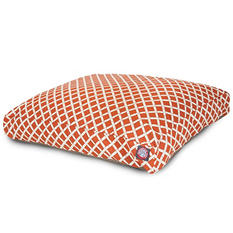 Majestic Pet Burnt Orange Bamboo Rectangle Dog Bed (Small)