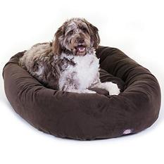 "Majestic Pet Suede Bagel Pet Bed, 52"" (Choose Your Color)"