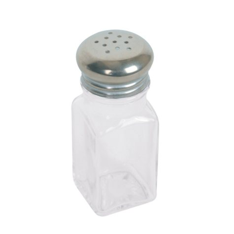 Excellanté Square Shaker with Stainless Steel Mushroom Cap - 2 oz. - Set of 6