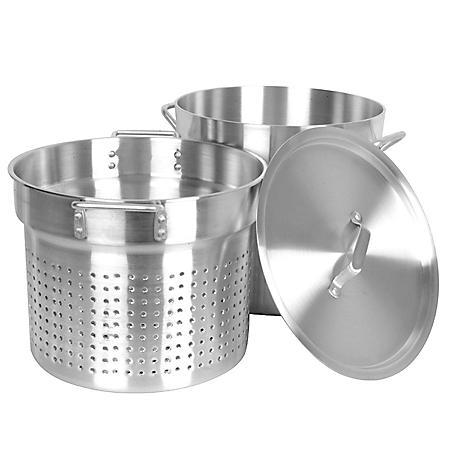 """20 Qt. Aluminum Pasta Cooker - 14.5"""" x 13"""" x 15"""""""