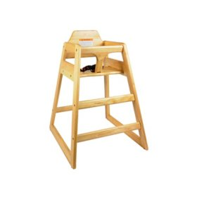 Commercial Grade Wooden High Chair, K.D. ASTM 404 CERTIFIED (Choose Color)
