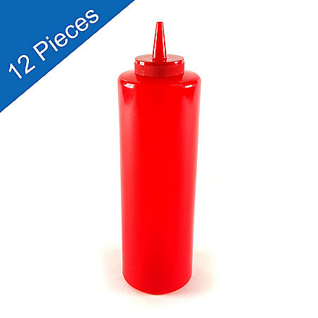 Squeeze Bottle - Red - 12 pk.