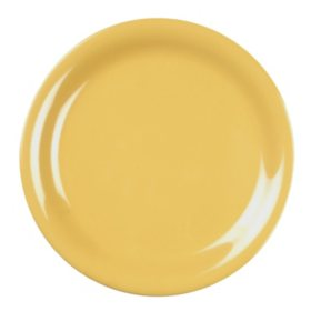 Melamine Narrow Rim Round Plate - Yellow - 12 pk. - Various Sizes