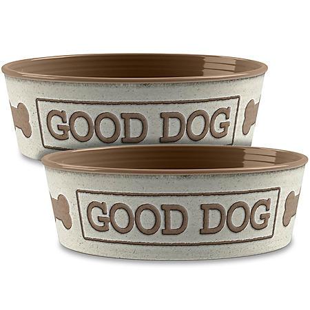 Life Happens Pet Bowl, 2 Pack (Choose Your Size & Color)