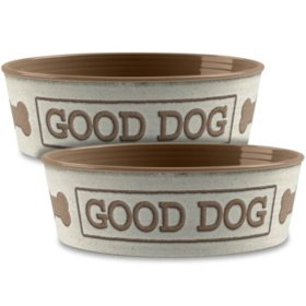 Life Happens Pet Bowl, 2 Pack (Choose Your Size & Color)