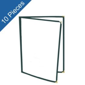 Menu Folder - 2 Pages w/ 4 Views - 10 pk. - Various Colors