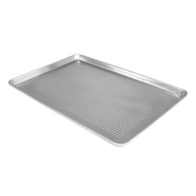 "Half-Size Perforated Aluminum Sheet Pan - 18"" x 13"""