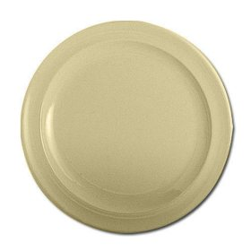 "Excellanté Melamine Tan Collection Round Dessert Plate - Tan - 7.25"" - 12 pc."
