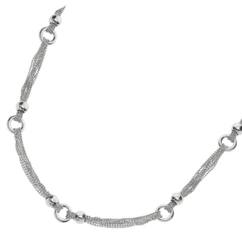 """Fancy Link Fashion Necklace in Sterling Silver - 18"""""""