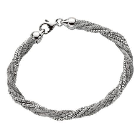 Five Strand Mesh Twist Bracelet in Sterling Silver