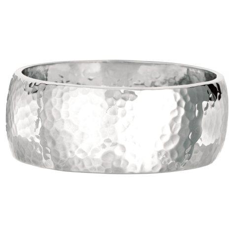 Hammered Finish Bangle Bracelet in Sterling Silver