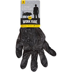 Work Fare Disposable Nitrile Gloves (6 ct.)