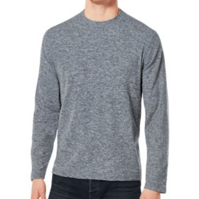 Free Country Men's Brushed Crew-Neck Long Sleeve Shirt