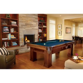Brunswick Oakhill 8-Foot Billiard Table (Select Cloth)